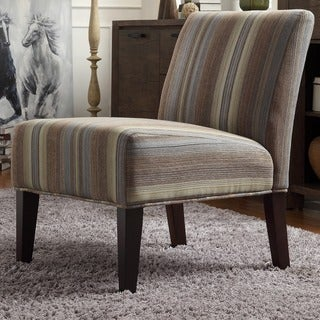 INSPIRE Q Peterson Mocha Tonal Stripe Slipper Chair