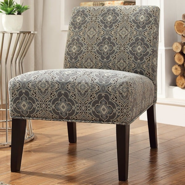 Shop Peterson Blue Damask Slipper Chair By Inspire Q
