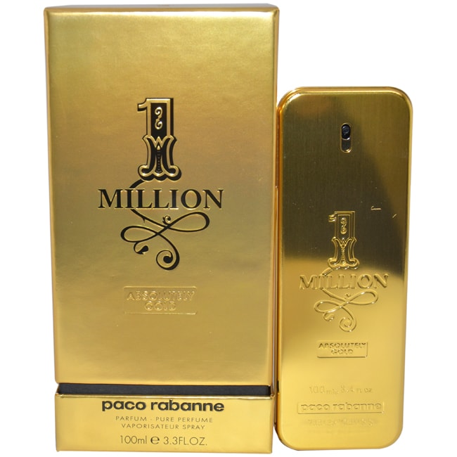 Paco Rabanne 1 Million Absolutely Gold Men's 3.3-ounce Pu...