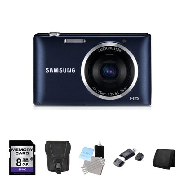 Samsung ST72 16.2MP Black Digital Camera 8GB Bundle