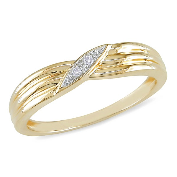Miadora 10k Yellow Gold Diamond Ring