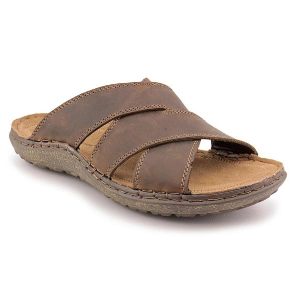 3fb3863759b56 Shop Hush Puppies Men's 'Decode Slide' Leather Sandals - Free ...
