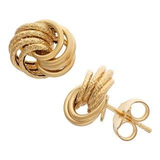 Gioelli 14k Yellow Gold Rosetta Earrings