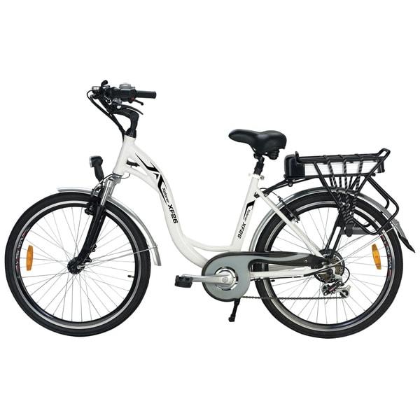 shop yukon trails xplorer women u0026 39 s step thru urban street electric bike  26-inch