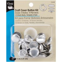 """Craft Cover Button Kit-3/4"""" 18 Sets W/Template & Tools"""
