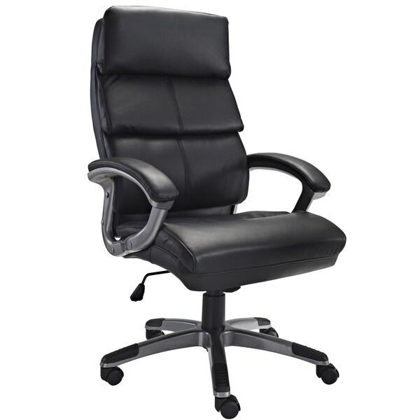 Modway Stellar Vinyl Office Chair in Black