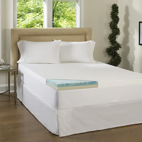 Comforpedic Loft from Beautyrest 3-inch Flat Select Gel Memory Foam Mattress Topper with Cover