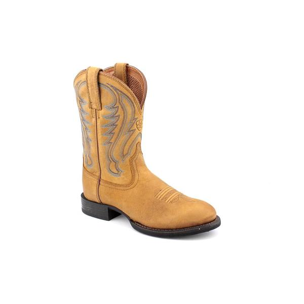 f3d3b4c010b Shop Ariat Men's 'Sport Round Toe' Leather Boots - Free Shipping ...