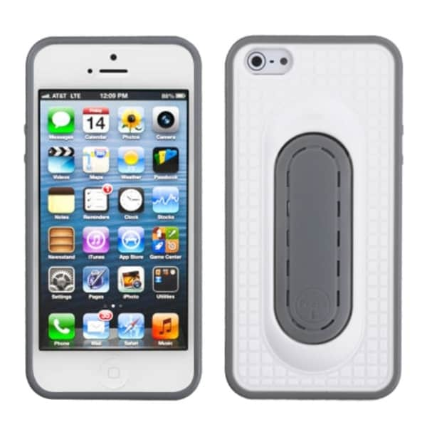 INSTEN White Snap Tail Stand Phone Case for Apple iPhone 5/ 5S/ SE