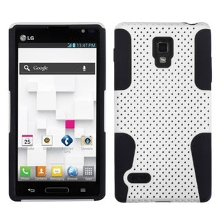 INSTEN White/ Black Astronoot Phone Case Cover for LG Optimus L9 P769