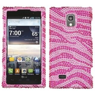 INSTEN Pink/ Hot Pink Zebra Diamante Phone Case Cover for LG VS930 Spectrum 2