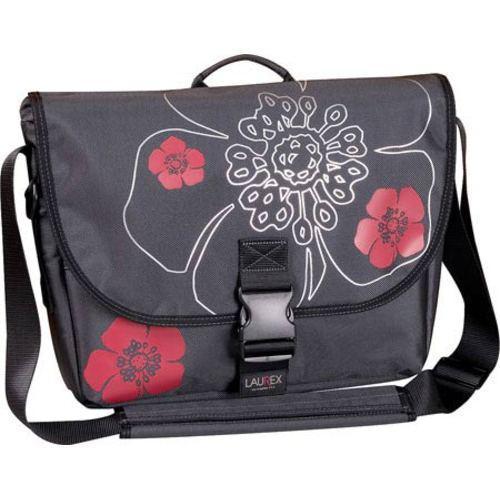 Women's Laurex 17.3in Laptop Large Slim Messenger Bag Gun Metal