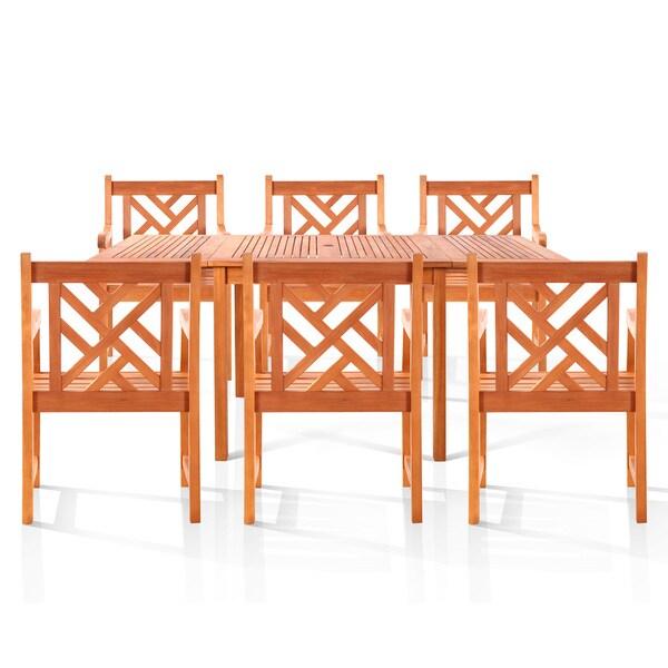 Eco-friendly Caicos 6-seat Dining Set