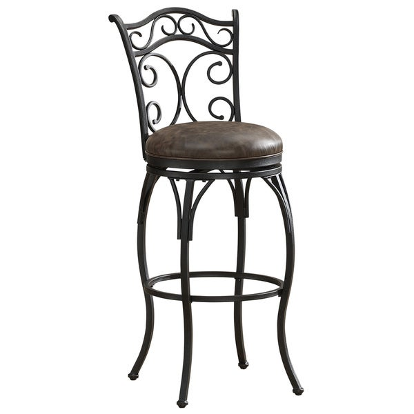 Savita 30-inch Scroll Back Swivel Stool