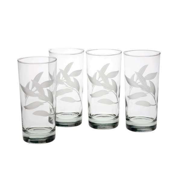 Bamboo Garden Hiball Glasses (Set of 4)