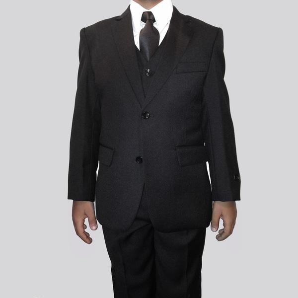 Tazio Boys' Black 5-piece Suit Set