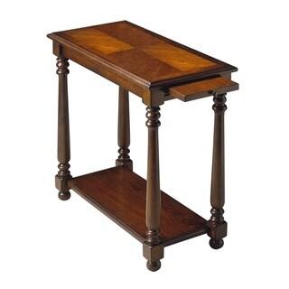 Butler Traditional Rectangular Chairside Table - Dark Brown