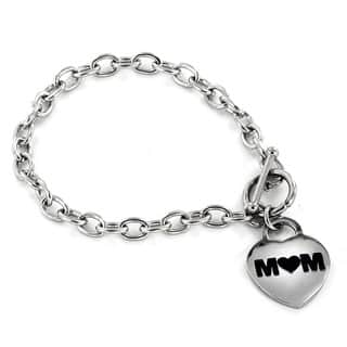 ELYA Stainless Steel Polished 'Mom' Heart Charm Bracelet|https://ak1.ostkcdn.com/images/products/8126100/ELYA-Stainless-Steel-Polished-Mom-Heart-Charm-Bracelet-P15472075.jpg?impolicy=medium