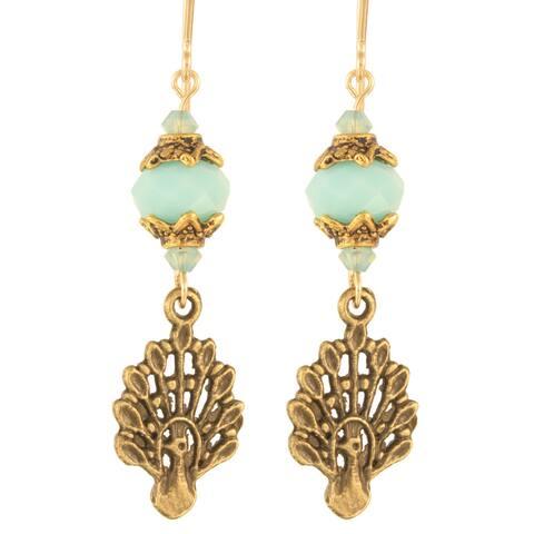 Babylonian Peacock Earrings