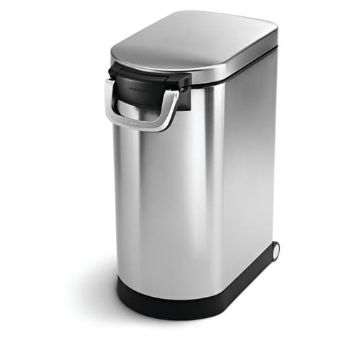 simplehuman Brushed Stainless Steel 30-liter/8-gallon Pet Food Storage Can