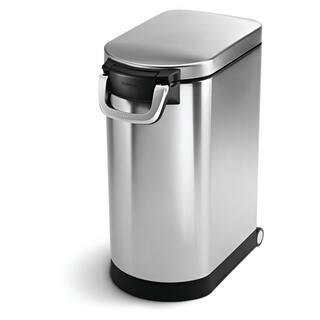 simplehuman Brushed Stainless Steel 30-liter/8-gallon Pet Food Storage Can|https://ak1.ostkcdn.com/images/products/8126221/simplehuman-Brushed-Stainless-Steel-30-liter-8-gallon-Pet-Food-Storage-Can-P15472173.jpg?impolicy=medium
