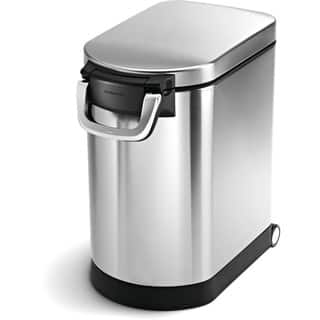 simplehuman Brushed Stainless Steel 25-liter/6.5-gallon Pet Food Storage Can|https://ak1.ostkcdn.com/images/products/8126225/P15472178.jpg?impolicy=medium