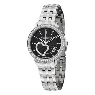 Stuhrling Original Women's Aphrodite Elite Swiss Quartz Stainless Steel Bracelet Diamond Watch