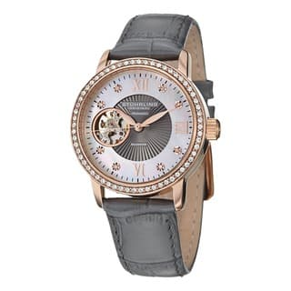 Stuhrling Original Women's Memoire Automatic Austrian Crystal Leather Strap Watch|https://ak1.ostkcdn.com/images/products/8126251/P15472187.jpg?impolicy=medium