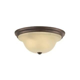 Feiss Vista 3 - Light Indoor Flush Mount, Corinthian Bronze
