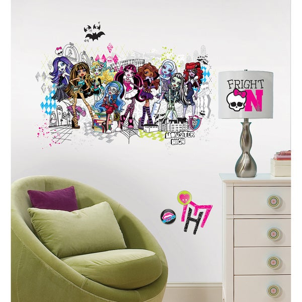 Shop Monster High Group Peel And Stick Giant Wall Decals