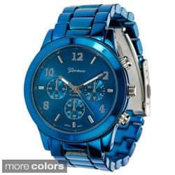 Geneva Platinum Women's Blue Link Watch|https://ak1.ostkcdn.com/images/products/8126445/Geneva-Platinum-Womens-Blue-Link-Watch-P15472348.jpg?impolicy=medium