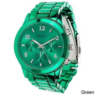 Geneva Platinum Women's Blue Link Watch