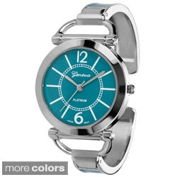 Geneva Platinum Women's Color Block Cuff Watch