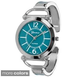 Geneva Platinum Women's Color Block Cuff Watch