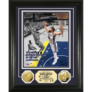 Marc Gasol 2013 NBA Defensive Player of the Year Gold Coin Photo Mint