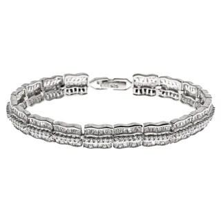La Preciosa Sterling Silver CZ Link Bracelet