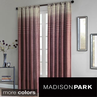 Madison Park Eva Faux Silk 84-inch Curtain Panel