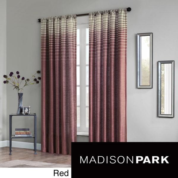Madison Park Eva Faux Silk 84-inch Curtain Panel - 15472546 ...