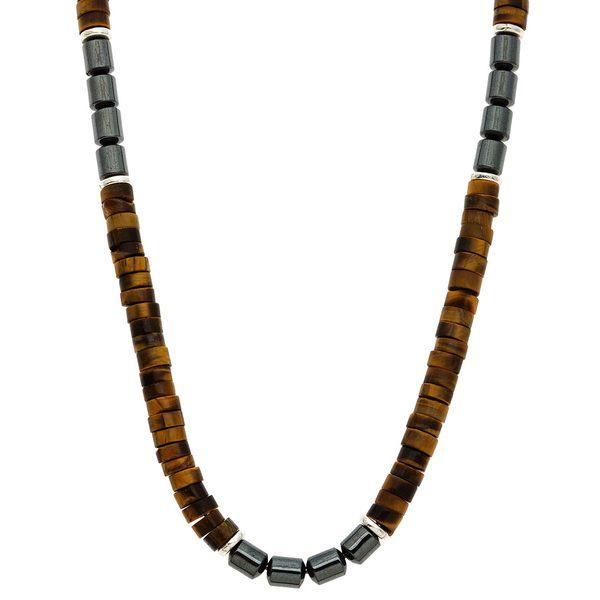 Lola's Jewelry Unisex Sterling Silver Tiger's Eye 'Feline Eye' Necklace