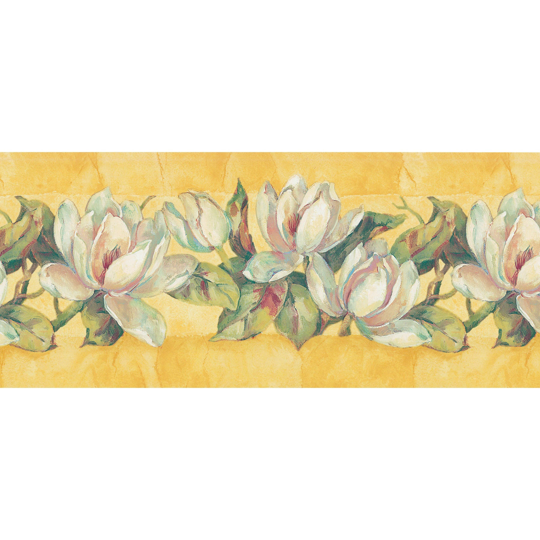 Shop Brewster Home Fashions Yellow Floral Wallpaper Border