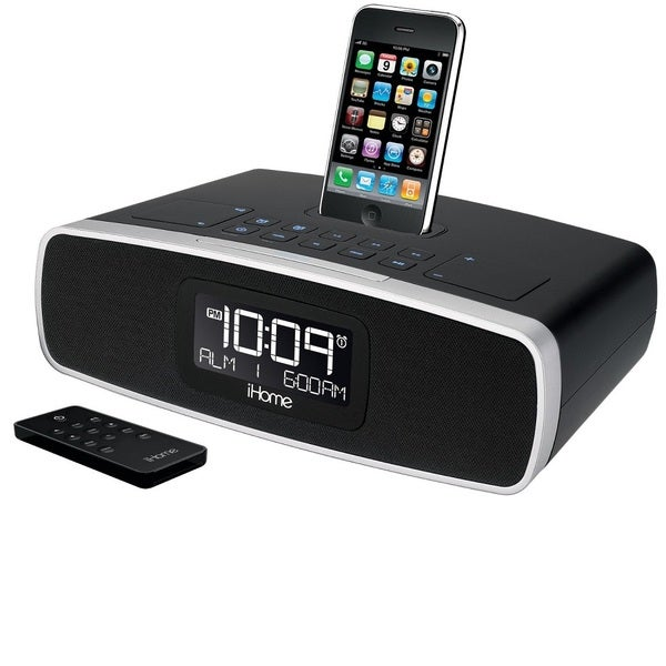 iHome iP90 Dual Alarm Clock Radio for iPhone and iPod with AM / FM (Manufacturer Refurbished)