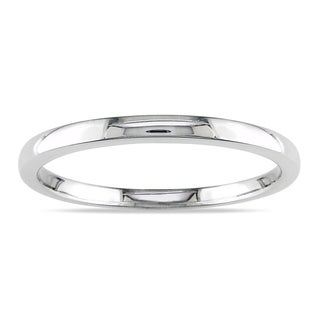 Miadora 10K High Polished White Gold Wedding Band