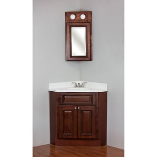Brandy Wine Maple Corner Vanity