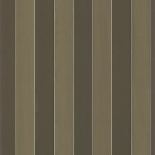 Brewster Dark Brown Stripe Wallpaper