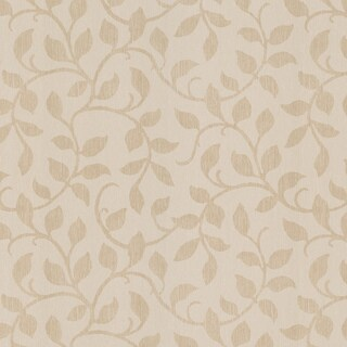 Brewster Taupe Leaves Wallpaper