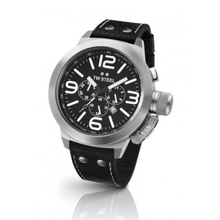 TW Steel Men's Black Dial Chronograph Watch