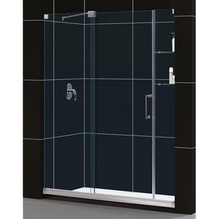 DreamLine Mirage Frameless Sliding Shower Door and SlimLine 34 x 60-inch Single Threshold Shower Base