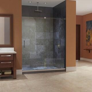 DreamLine Mirage Frameless Sliding Shower Door and SlimLine 34 x 60-inch Single Threshold Shower Base