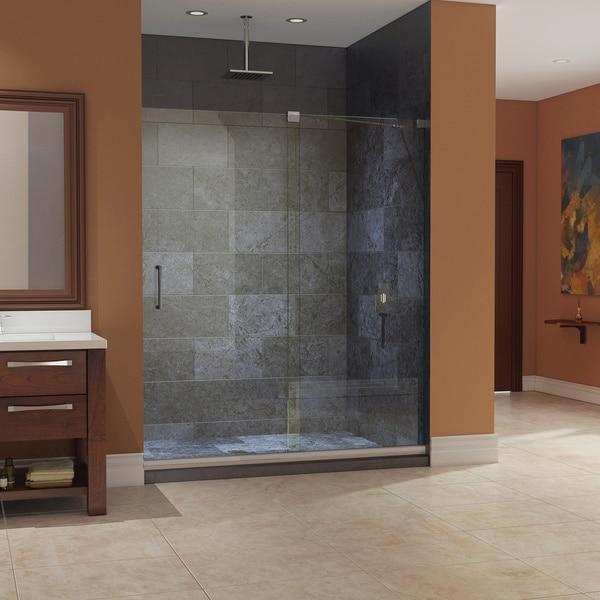 dreamline mirage frameless sliding shower door and slimline 36 in by 60 in single