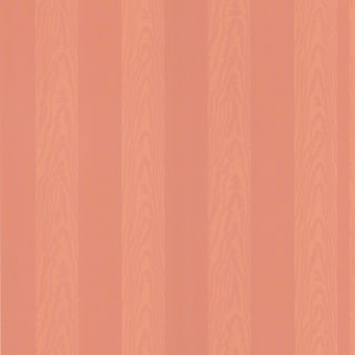 Shop Brewster Salmon Stripes Wallpaper Free Shipping On